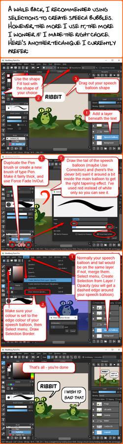 Speech balloons II: FireAlpaca and MediBang Paint