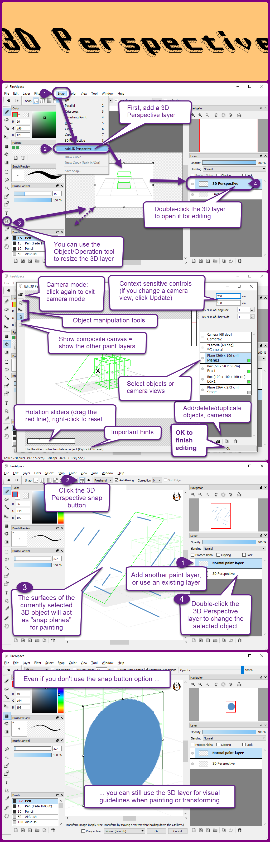 3D Perspective layers in FireAlpaca 1 6 by obtusity on DeviantArt