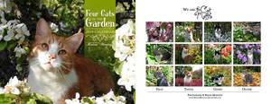Four Cats in the Garden v1 - 2019 calendar by RavenMontoya