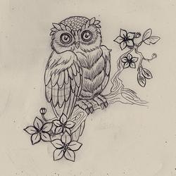 Tattoo Owl by N-2tt