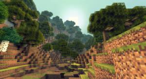 Minecraft - Une foret sur une montagne !