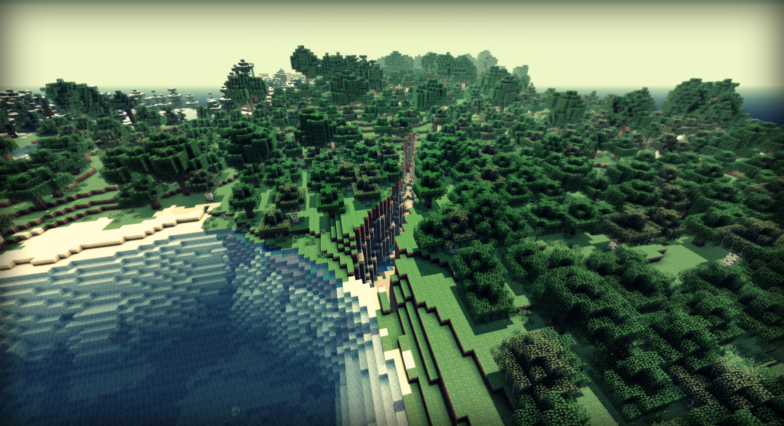 Minecraft Une Crevasse Consequente By Alekscube On