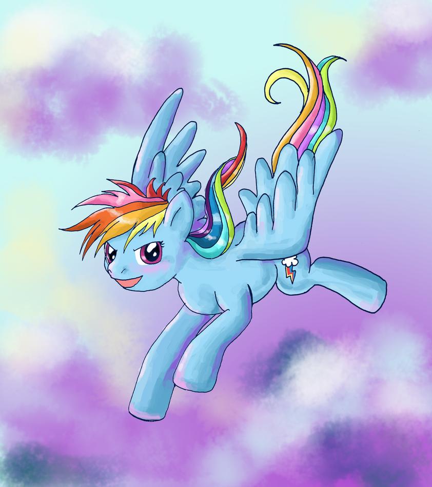Rainbow Dash Flying By Lotothetrickster On DeviantART