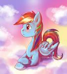 Pensive Rainbow Dash