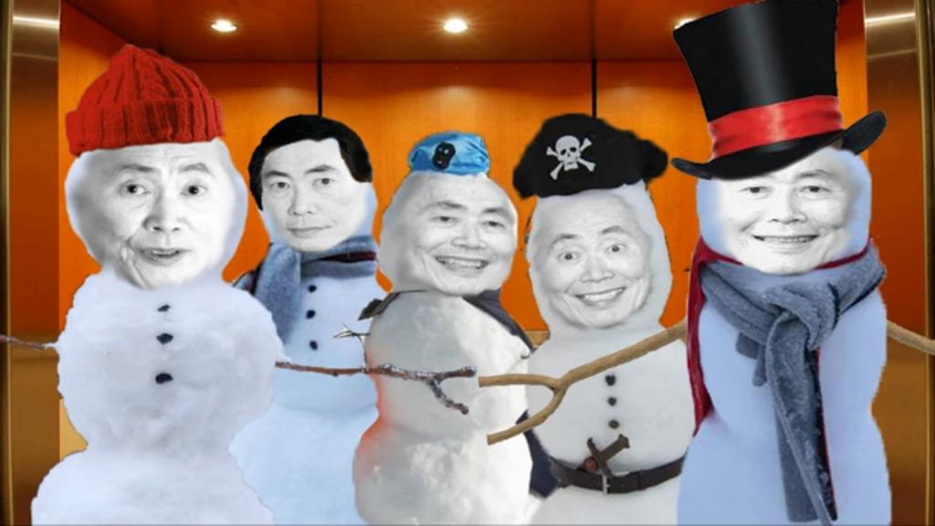 NC: Snowmen of George Takei by TheCommanderSamir