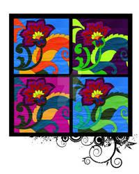 Coloured In Flower Combo