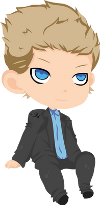 Chibi Suit Costar man blond