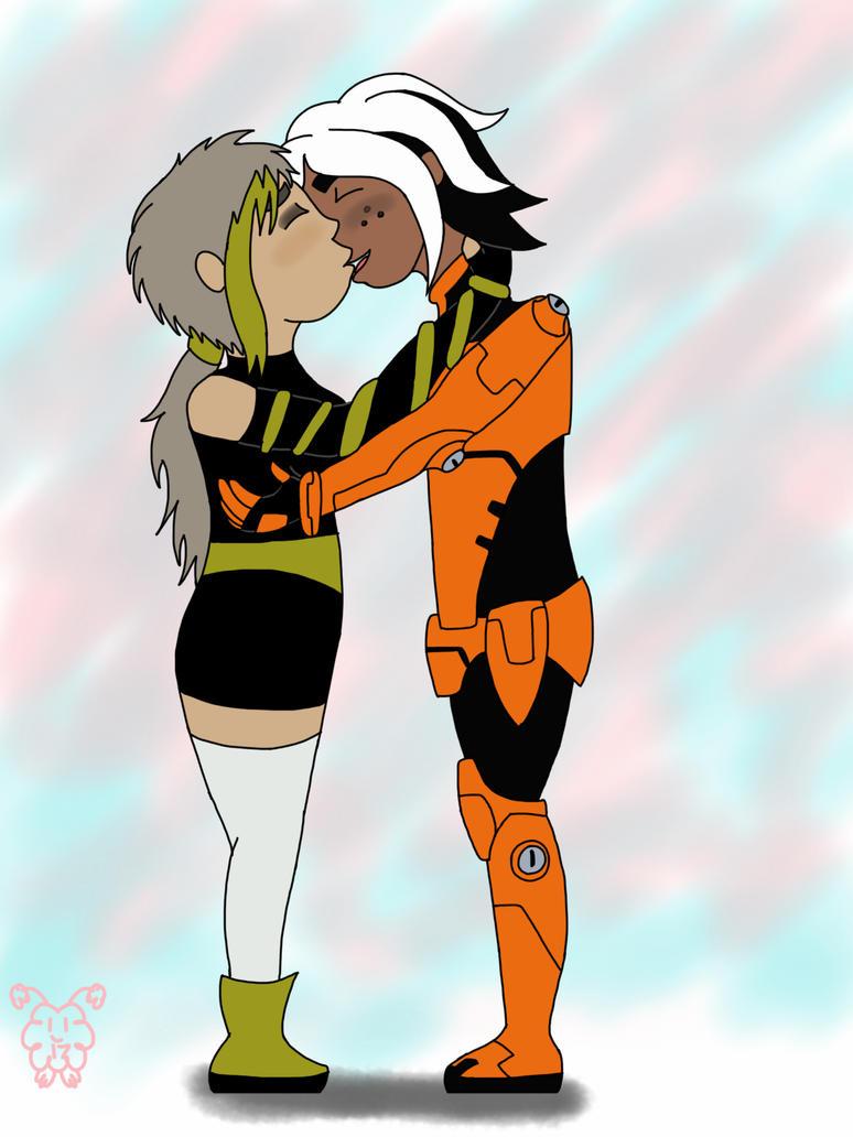 Dorky kissing by fuzzball17