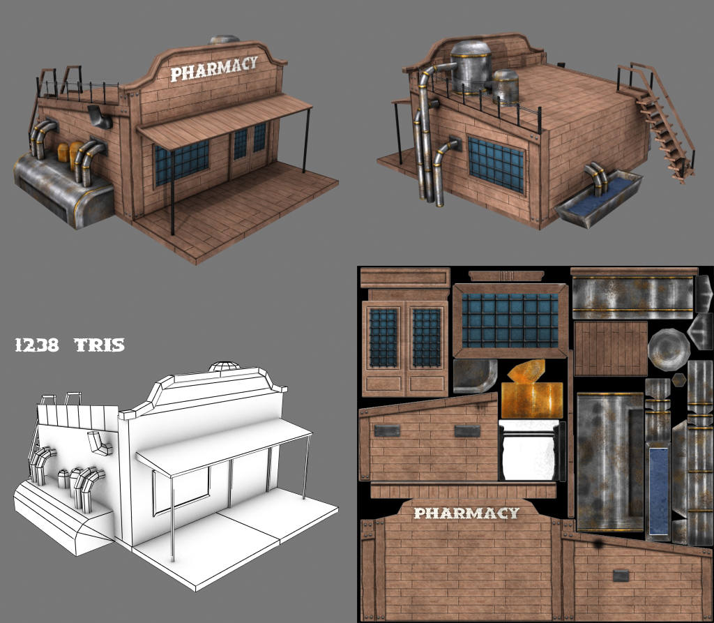 Low Poly Games Building 2 by Conglaci