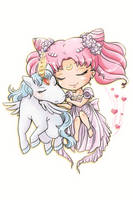 Small Lady and her Pegasus by batmanorama