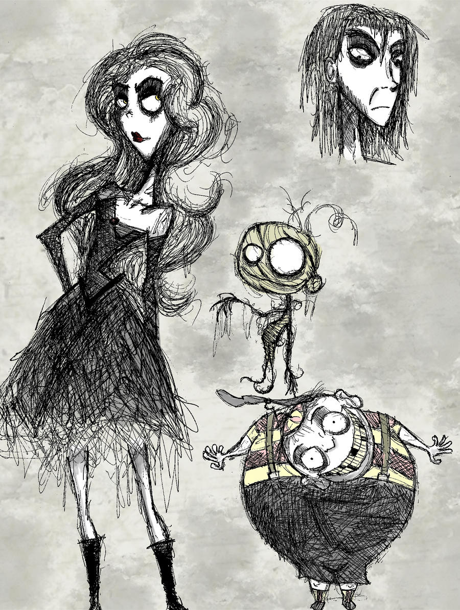 how to draw yourself as a tim burton character