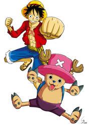 One Piece : Luffy et Chopper