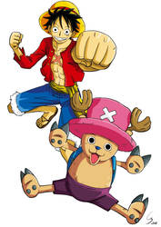 One Piece : Luffy et Chopper