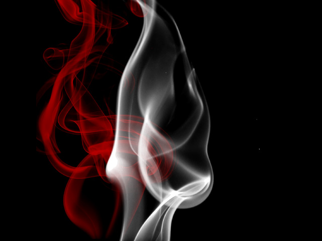 Red And White Smoke By Office123