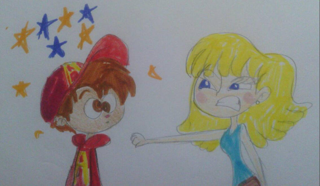 Lori Loud Punches Alvin by MIXTOONS