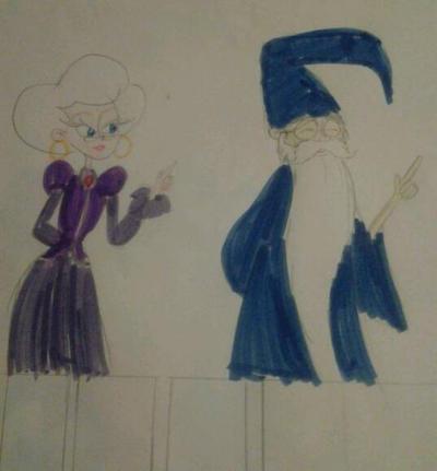 Faragonda and Merlin by MIXTOONS