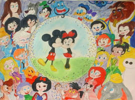 Happy 90th Anniversary, Mickey and Minnie Mouse by MIXTOONS
