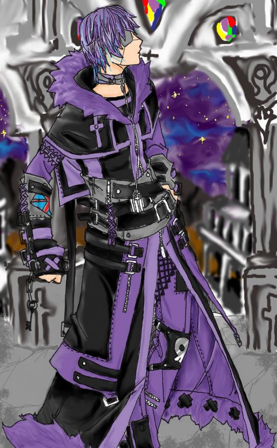 purple hair guy by girutea on deviantart