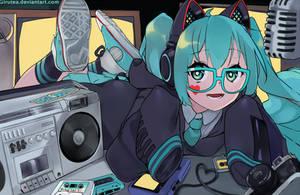 Hatsune Hipster by Girutea