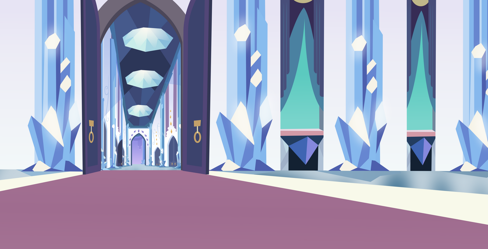Crystal Empire Throne Room 2 By Comeha On Deviantart