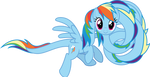 Rainbow Dash - Tallbow! by Comeha