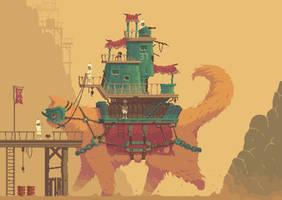 Monster Cat - Pixel Art by rcmedy2