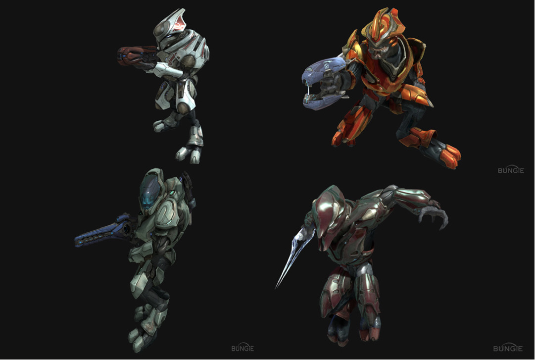 halo reach drones with Page5 on Tex together with Id 398870 in addition Lvl 10 Lone Wolf moreover Aliens And Robots Concept Art in addition Noble Six.