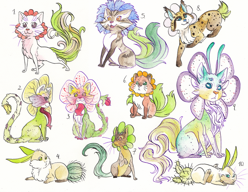 Adoptables_4_Snulls CLOSE by Shiro-ART