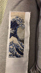 The Great Wave - Hokusai, in cross stitch