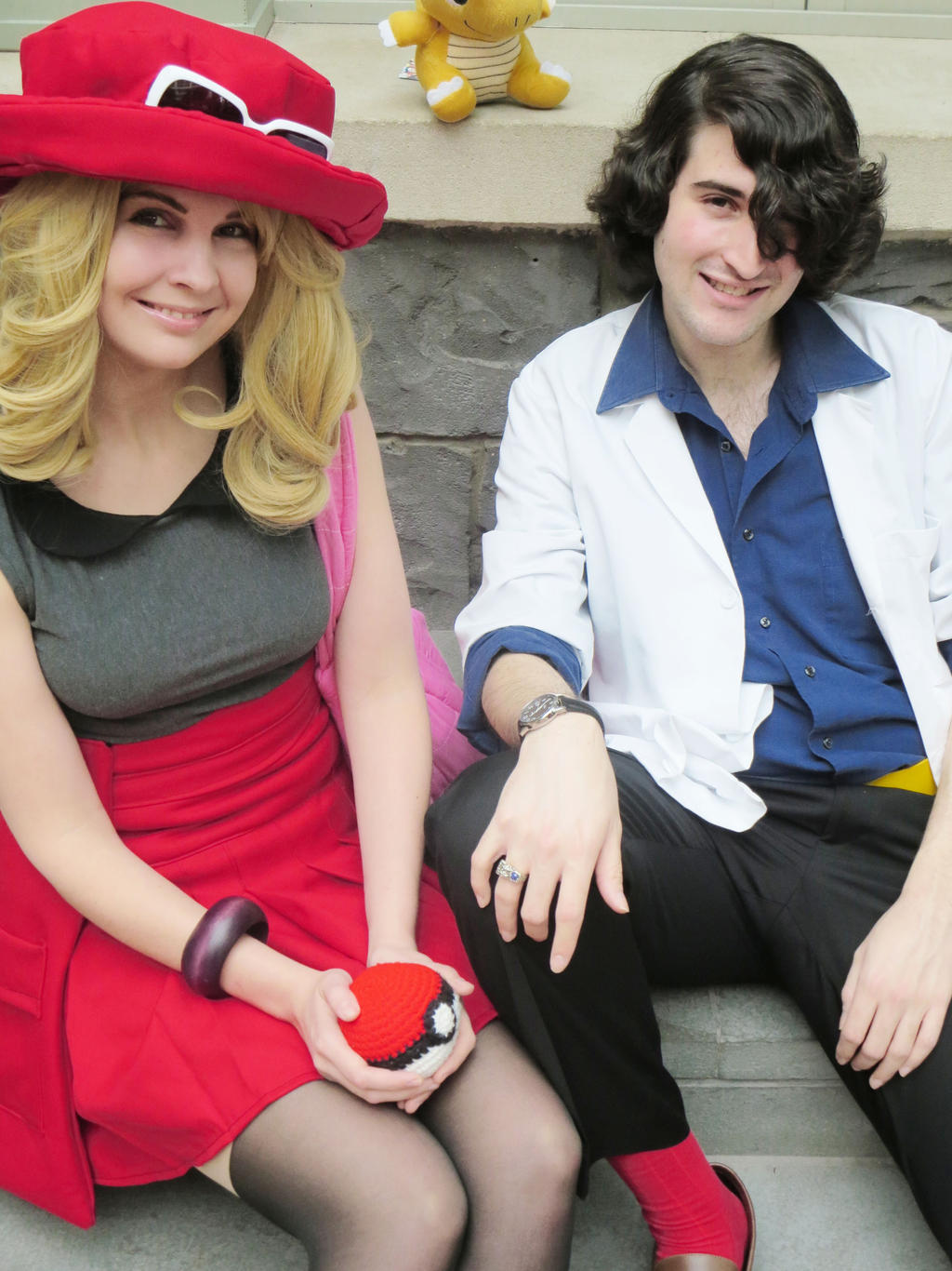 female trainer serena and professor sycamore by