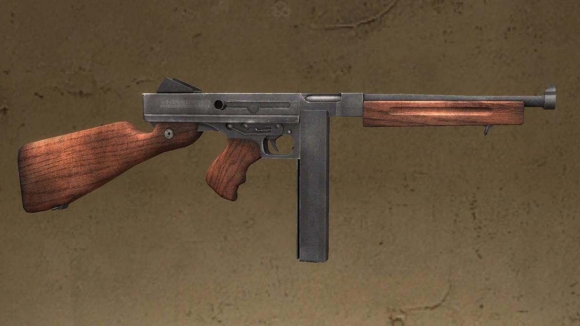 Forgotten Hope 2 Thompson M1A1 by Portugueseotaku on DeviantArt