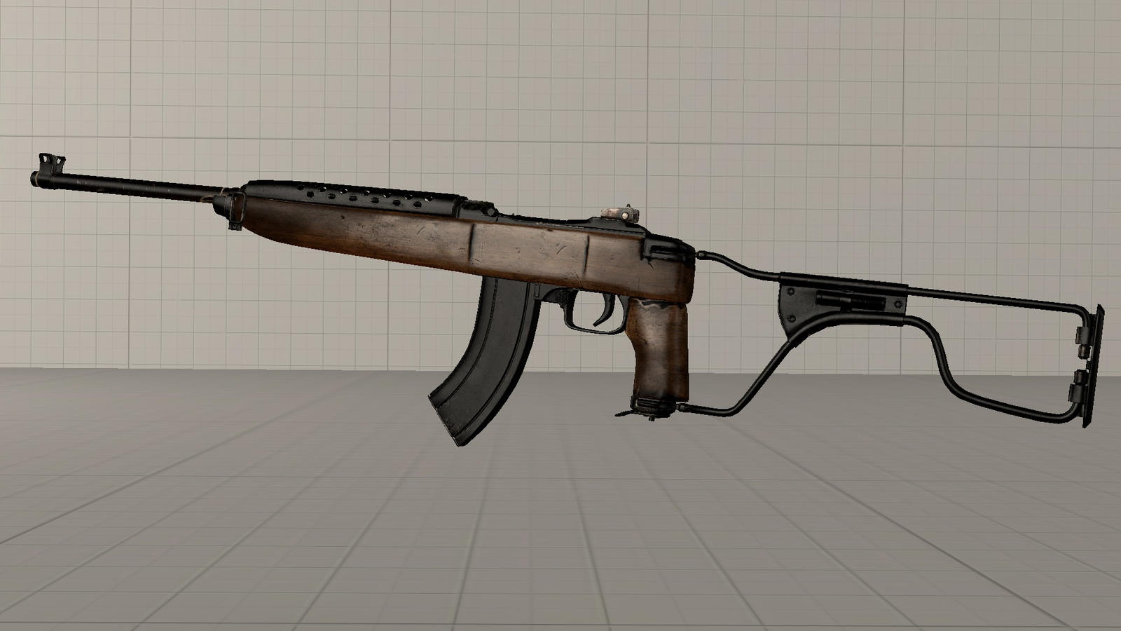CoD WW2 Winchester M2 Carbine with folding stock by