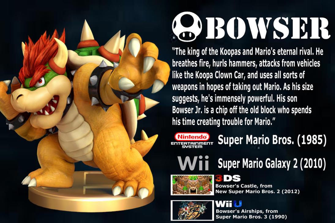 Super Smash Bros Wii U 3ds Bio 4 Bowser By TNTyoshiART