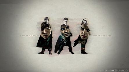 Harry - Ron - Hermione (Wallpaper 1290x1080)