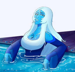 Blue Diamond in a pool