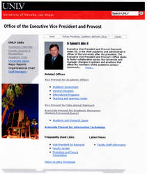 Homepage for UNLV Provost Website