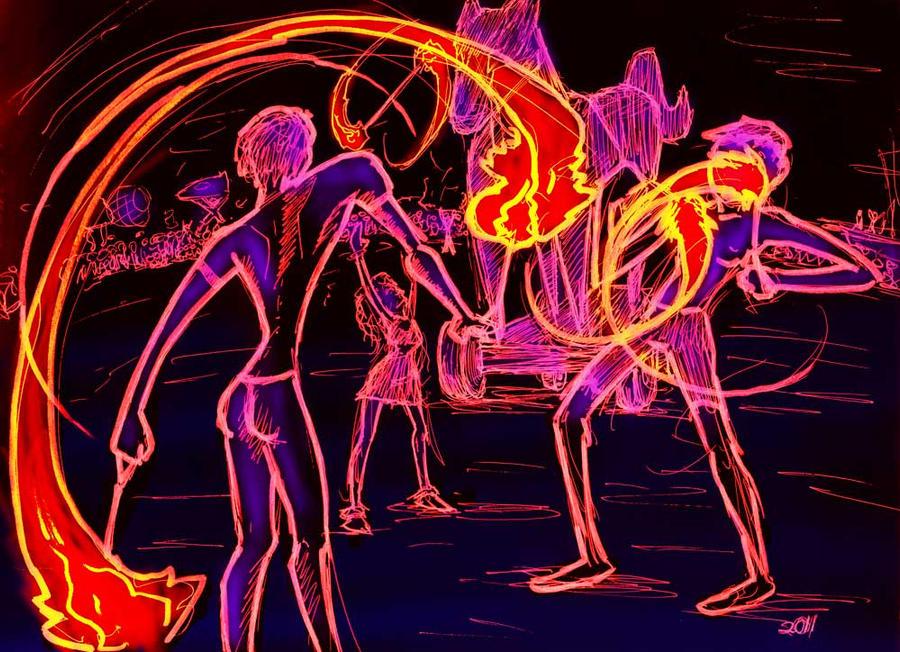Fire Dancers 2 by ObscureStar