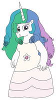 Celestia as Rose Quartz (Alternate Version)