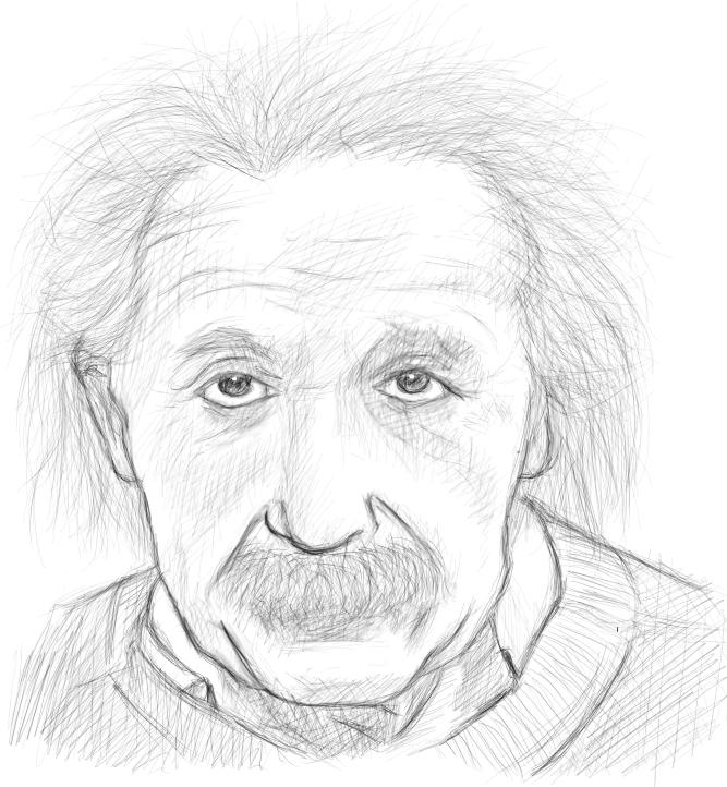Albert Einstein Drawing
