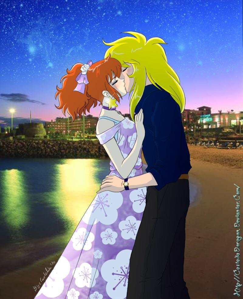 Kiss on the beach by CastaliaDoragon