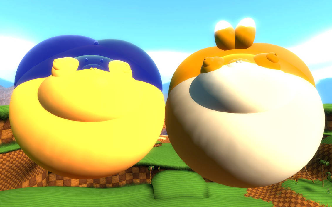 Sonic And Tails Inflated By Srx1995 On Deviantart