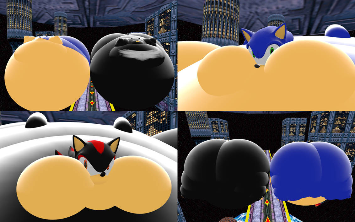 Sonic And Shadow Inflated By Srx1995 On Deviantart