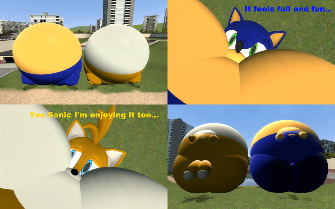 Sonic And Tails Lays Inflated On The Ground By Srx1995 On Deviantart