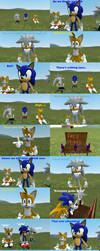 Sonic,Tails and Silver Blueberry comic by SRX1995
