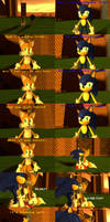 Sonic blows up Tails (Updated)