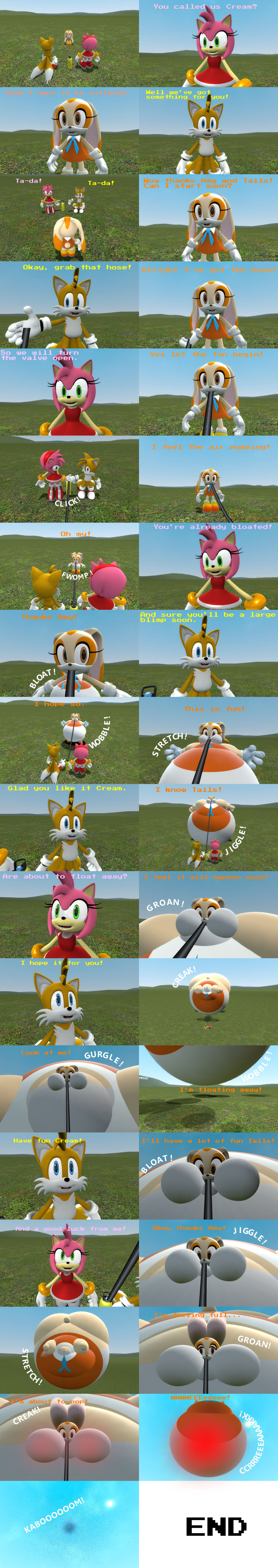 Amy And Tails Inflates Cream Comic By Srx1995 On Deviantart