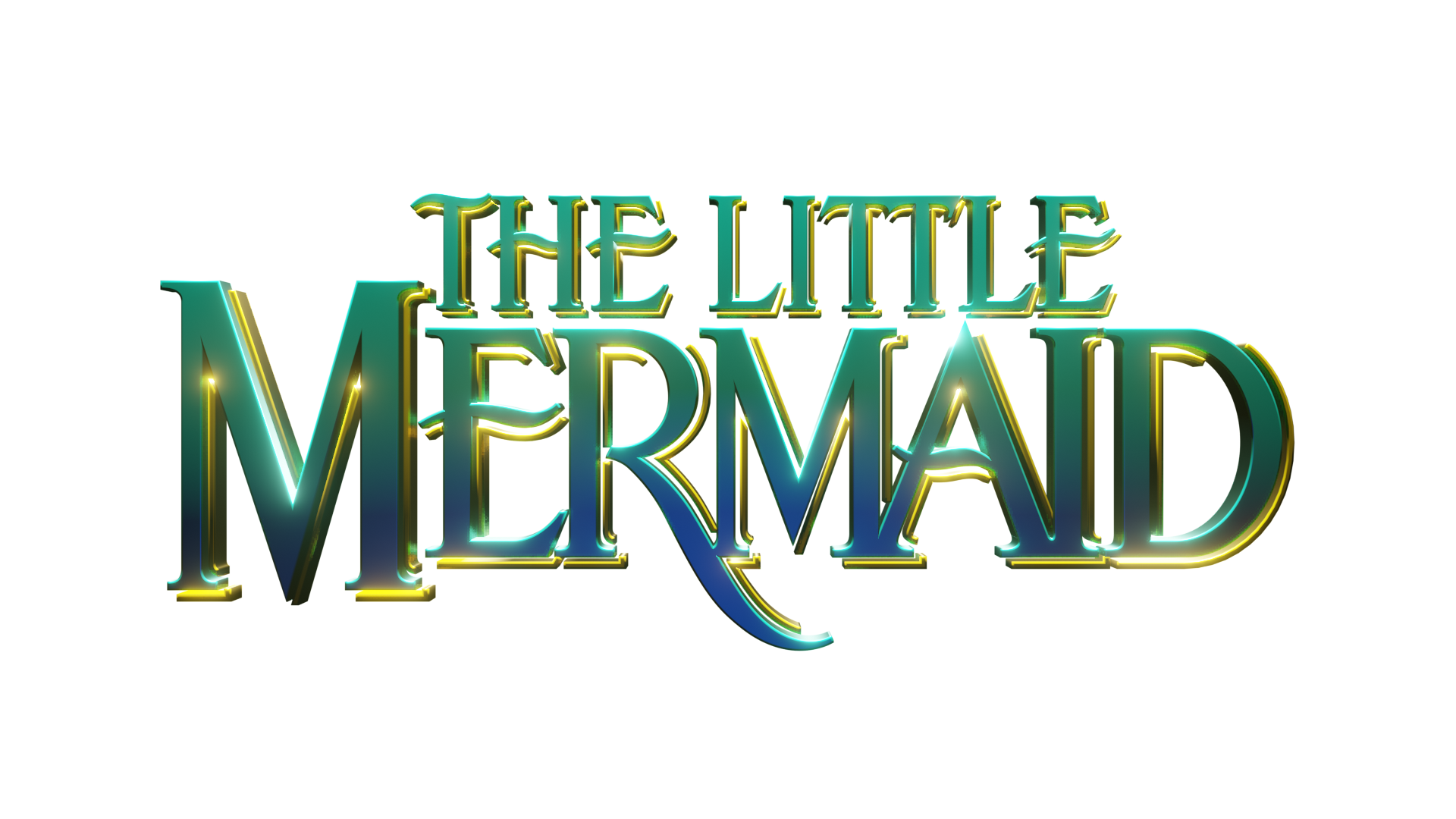 Disney's The Little Mermaid logo (3D render) by Free-Xone ...