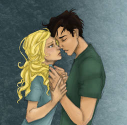 Percy and Annabeth-color only
