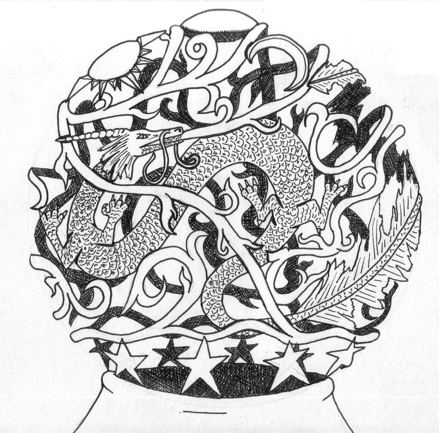 Pencil art by pktmerlin85 on deviantart for Jade dragon tattoo