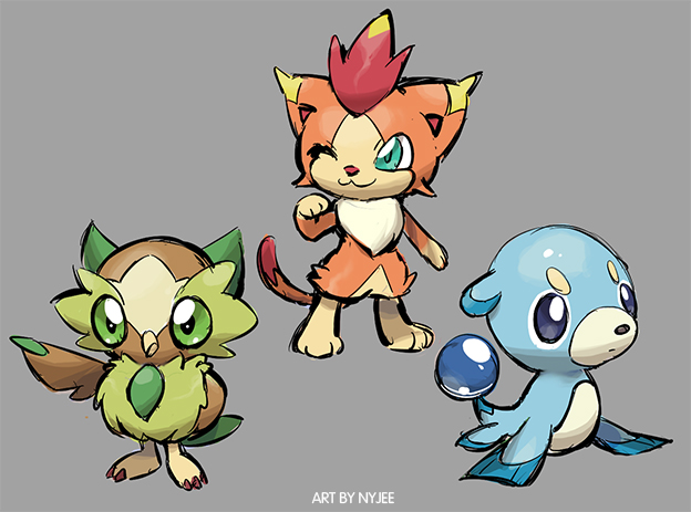 fake sun moon starter by Nyjee